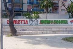 """Deturpato il murale """"Barletta antifascista"""", Cgil Bat: «Non riuscirete a cancellare la memoria»"""