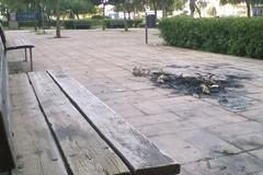 Parco di via Barberini ancora in uno stato disastroso