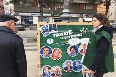 Greenpeace protesta in piazza a Barletta contro il governo Conte