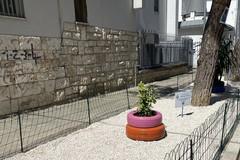 A Barletta un'aiuola in via Bramante: la riqualificazione della zona parte da qui