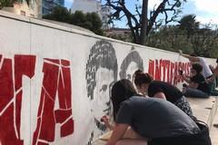 """""""Barletta antifascista"""", ripristinato il murale nei giardini De Nittis"""