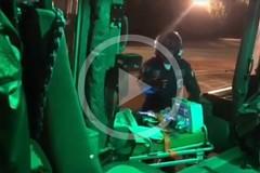 Aeronautica Militare, il video dell'intervento notturno all'ospedale di Barletta