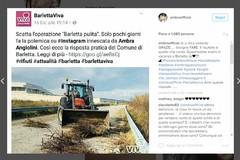Città ripulita, Ambra Angiolini risponde a BarlettaViva