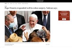 """Papa Francesco, sul """"The Washington Post"""" le parole del Direttore della Gastroenterologia di Barletta"""