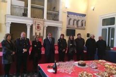 I saluti del sindaco Cascella all'amministrazione e alla cittadinanza