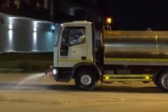 Coronavirus, a Barletta è partita la nuova sanificazione delle strade