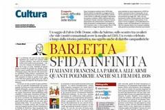Barletta e la sua Disfida oggi sulle pagine del Corriere della Sera