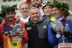 Maratona di Roma, medaglia celebrativa per Eligio Lomuscio di Barletta