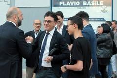 Flavio Basile in piazza con i sostenitori della Lega