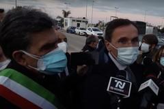 Ospedale da campo Covid a Barletta: la visita del ministro Francesco Boccia
