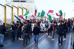 Gioventù Nazionale: «Noi pacifici e apolitici, loro con la bandiera rossa»