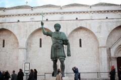 Eseguito un nuovo campionamento sulla statua di Eraclio