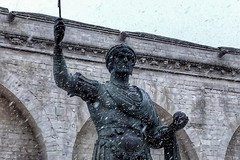 La neve arriva anche a Barletta, rallentamenti per la viabilità