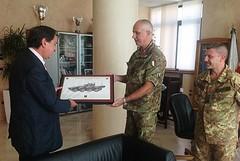 Il sindaco Cascella ha incontrato il colonnello Serio e il colonnello Favia
