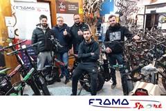 Team di giovani imprenditori alla guida di Frama Sport Barletta: «Da noi il meglio delle E-Bike»