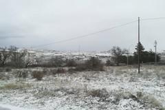 Primi fiocchi di neve nella Bat, primi disagi sulle strade