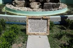 Lapide in pezzi in piazza Plebiscito, la dura condanna del sindaco