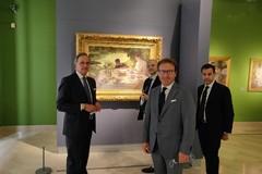 Visita a Barletta del senatore Giuseppe Moles