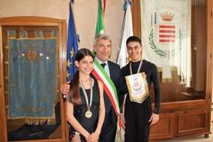 Giovanni e Ilaria Tesse, campioni barlettani di danza ospiti a palazzo di città