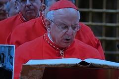 Il giuramento del Cardinale Monterisi in Conclave