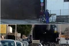 Incendio in un'autofficina di via Barletta ad Andria: ingenti i danni