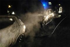 Notte di fuoco quella di Halloween a Barletta