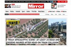 """""""Head-on Crash"""", la tragedia della Bari-Nord fa il giro del mondo"""
