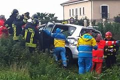 Incidente stradale all'uscita Barletta centro, tamponamento sull'asfalto scivoloso