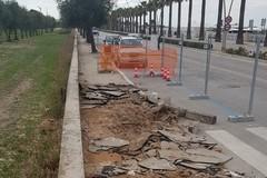 Litoranea di Ponente, in corso i lavori per il rifacimento dei marciapiedi