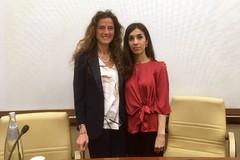 """Assuntela Messina incontra il nobel per la pace Nadia Murad: """"L'italia si impegni contro l'Isis"""""""