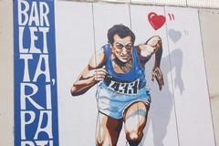 Le immagini del murale con cui Barletta ricorda Pietro Mennea