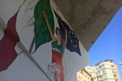 Street art, a Barletta un nuovo murale all'ombra del cavalcavia