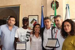 Il sindaco di Barletta Cannito incontra il giovane atleta Ndure Abdou