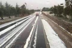 Maltempo, la neve blocca l'aeroporto di Bari-Palese