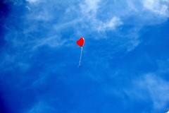 A Barletta palloncini rossi in volo nella giornata per l'eliminazione della violenza sulle donne
