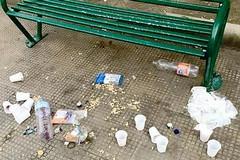 Degrado in piazza Principe Umberto: discussione per la spazzatura da picnic