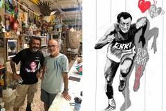 Fine primo tempo, il murale dedicato a Pietro Mennea diventerà realtà