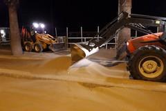 Sabbia sulle litoranee di Barletta, «stiamo lavorando per la corretta rimozione»