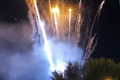 Fuochi d'artificio nel centro storico