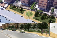 Inaugurazione dei nuovi giardini pubblici in Via Ofanto
