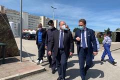 La visita del senatore Damiani al Posto medico avanzato dell'ospedale di Barletta