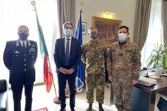 Il comandante delle Forze operative Sud in visita alla Prefettura di Barletta