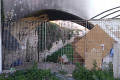 Degrado via Mura del Carmine, tra i rifiuti c'è anche un divano