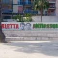 """Deturpato il murale  """"Barletta Antifascista """", Tarantino: «Un vile atto inqualificabile»"""