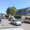 Via Andria, impatto tra una moto e un'automobile: due ragazzi coinvolti