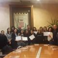 Il sindaco di Barletta Cosimo Cannito incontra le volontarie del Servizio civile