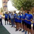 """I giovani del Gruppo Sportivo Avis Barletta si allenano sul  """"pistino """" di Mennea"""