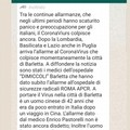 Coronavirus a Barletta? La fake news che gira in rete