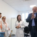 Michele Emiliano in visita all'ospedale Dimiccoli di Barletta