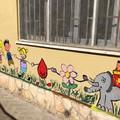 """""""Se donassi anche tu? """": un murale dei bambini di Barletta con Giacomo Borgiac"""